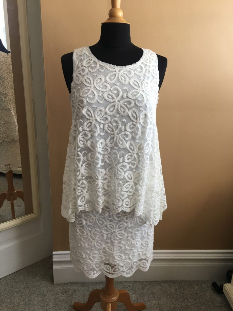 store, closet, for sale, clothes, cedar rapids, vintage, fun, max studio, white, dress
