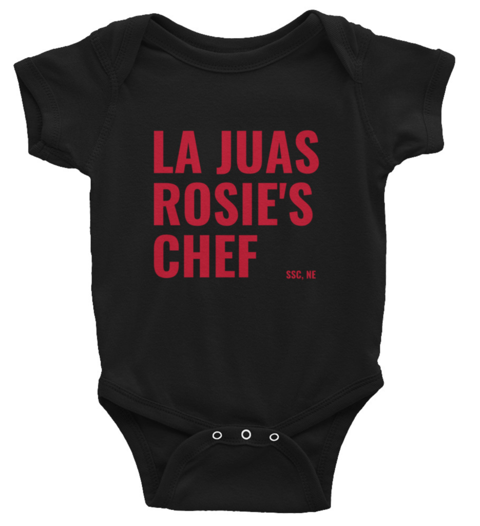 south sioux city, baby onesie, nebraska, food, shirt, chinese chef, la juas, rosies pizza, foodie, funny, best, ssc, so. sioux, cardinals